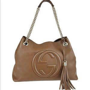 Gucci Women's Soho Leather Brown Shoulder Bag